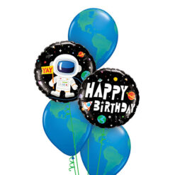 Happy Birthday Astronauta en ramo de globos